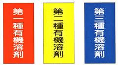 有機溶剤等の区分の表示