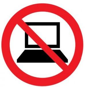 電子機器使用禁止マーク