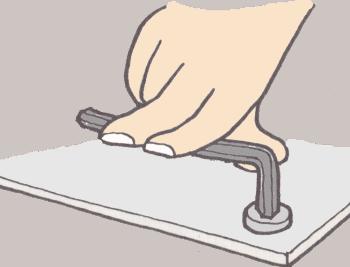 六角レンチ締め方-イラスト