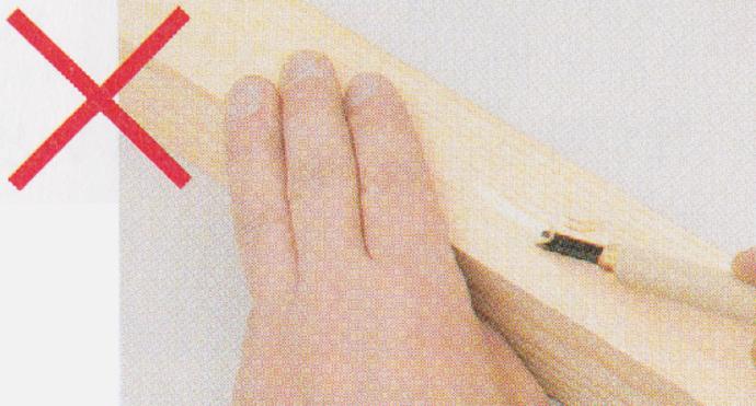 彫刻刀の使い方NG