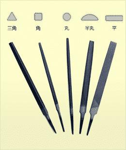 鉄工ヤスリの種類