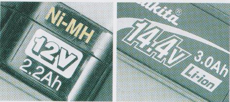 バッテリー種類  14.4V 18Vの違い