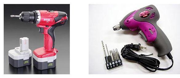 電気ドリルの選び方② コード式、充電式
