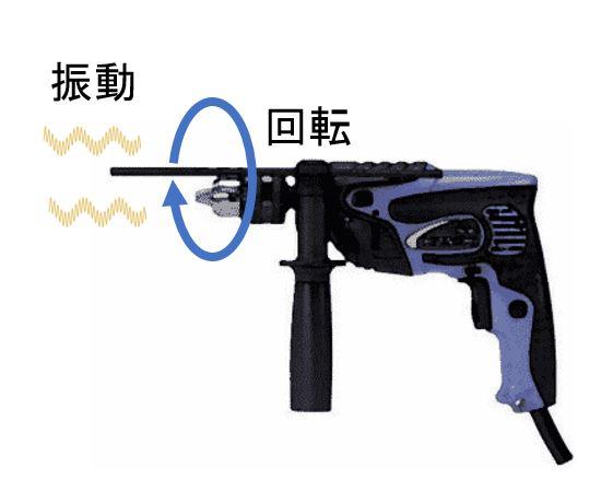 振動ドリル 構造
