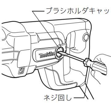カーボンブラシの交換  レシプロソー