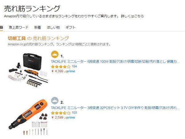 アマゾン おすすめ 切削系電動工具