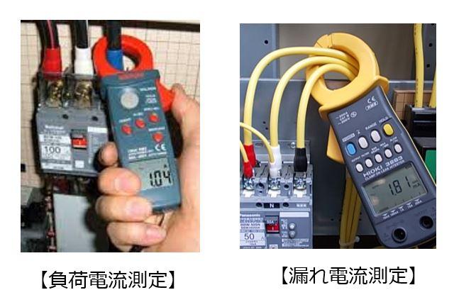 負荷電流の大小   クランプメーター