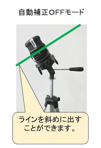 レーザー墨出し器 自動補正OFFモード