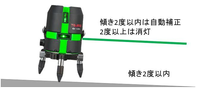 自動補正付レーザー墨出し器