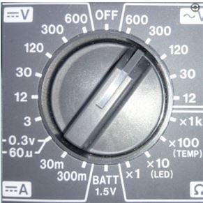 テスター 使い方の基本  測定レンジ