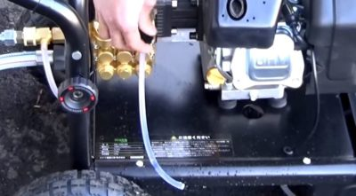 業務用高圧洗浄機 エンジンのかけ方
