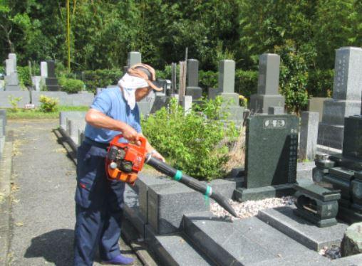 充電式コードレス ブロワー  お墓の清掃